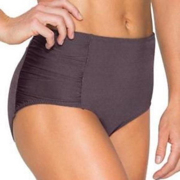 Athleta Other - Athleta High Waisted Ruched Bikini Bottom